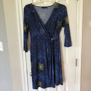 APT.9 faux wrap dress EUC M